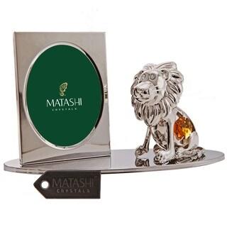 Matashi Cartoon Lion Picture Frame with Genuine Matashi Crystals