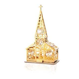 Matashi 24K Gold Plated Church Ornament with Genuine Matashi Crystals