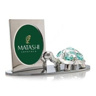 Matashi Cartoon Tortoise Picture Frame with Genuine Matashi Crystals