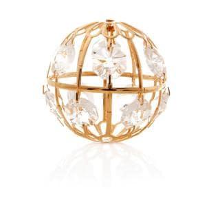 Matashi 24K Gold Plated Beautiful Crystal Ball Ornament with Genuine Matashi Crystals