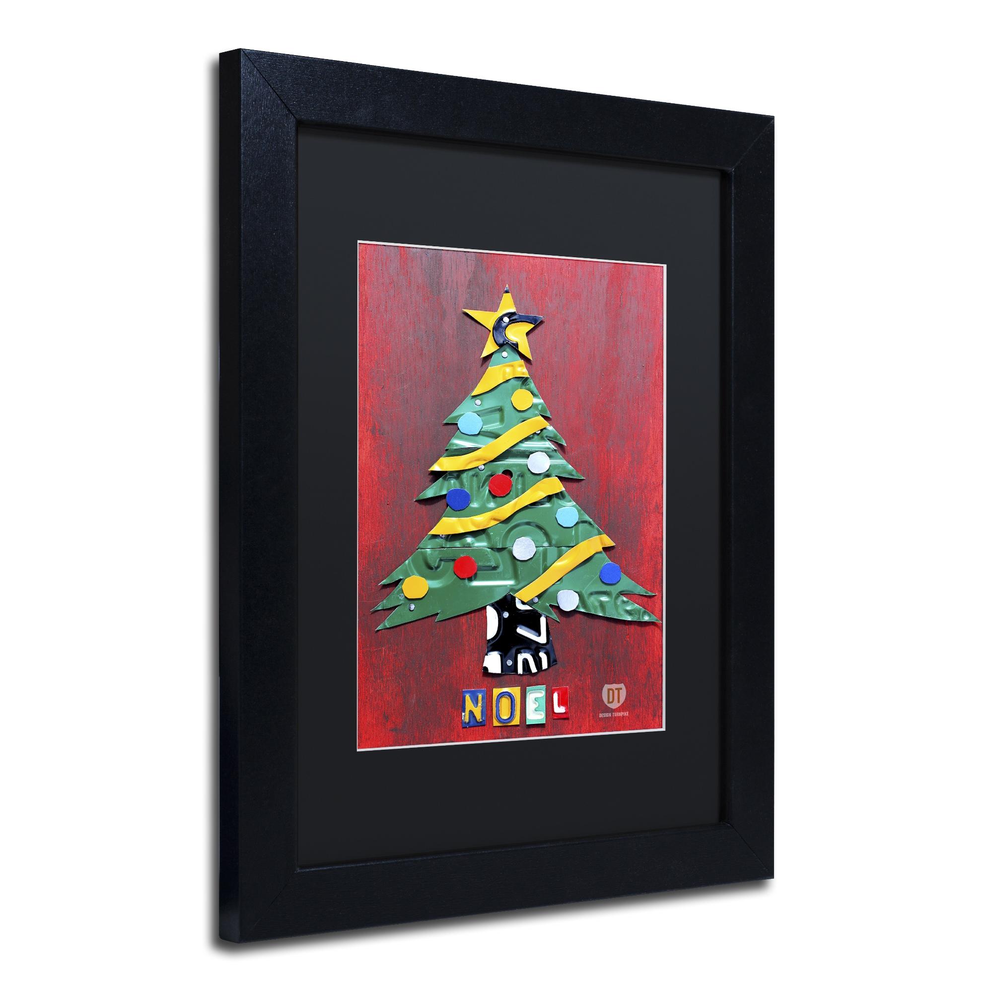 Design Turnpike Noel Christmas Tree Black Matte Black Framed Canvas Wall Art Overstock 10899328