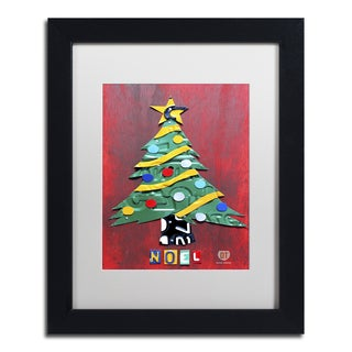 Design Turnpike 'Noel Christmas Tree' White Matte, Black Framed Canvas Wall Art