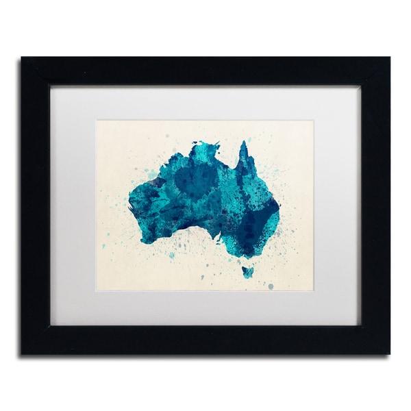... Canvas Art; /; Framed Canvas. Michael Tompsett U0026#x27;Australia Paint  Splashes Map 2u0026#x27; White Matte