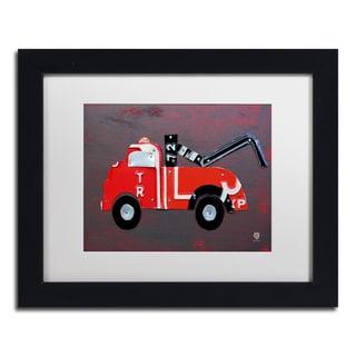 Design Turnpike 'Tow Truck' White Matte, Black Framed Canvas Wall Art