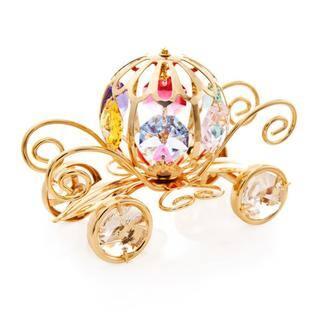Matashi 24K Gold Plated Mini Pumpkin Coach Ornament with Genuine Matashi Crystals https://ak1.ostkcdn.com/images/products/10899550/P17933182.jpg?impolicy=medium
