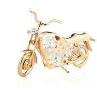Matashi 24K Gold Plated Motorcycle Ornament with Genuine Matashi Crystals