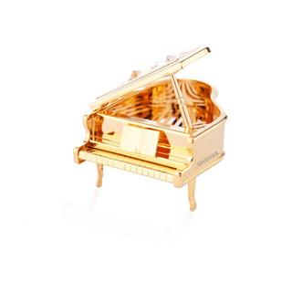 Matashi 24K Gold Plated Highly Polished Piano Ornament with Genuine Matashi Crystals