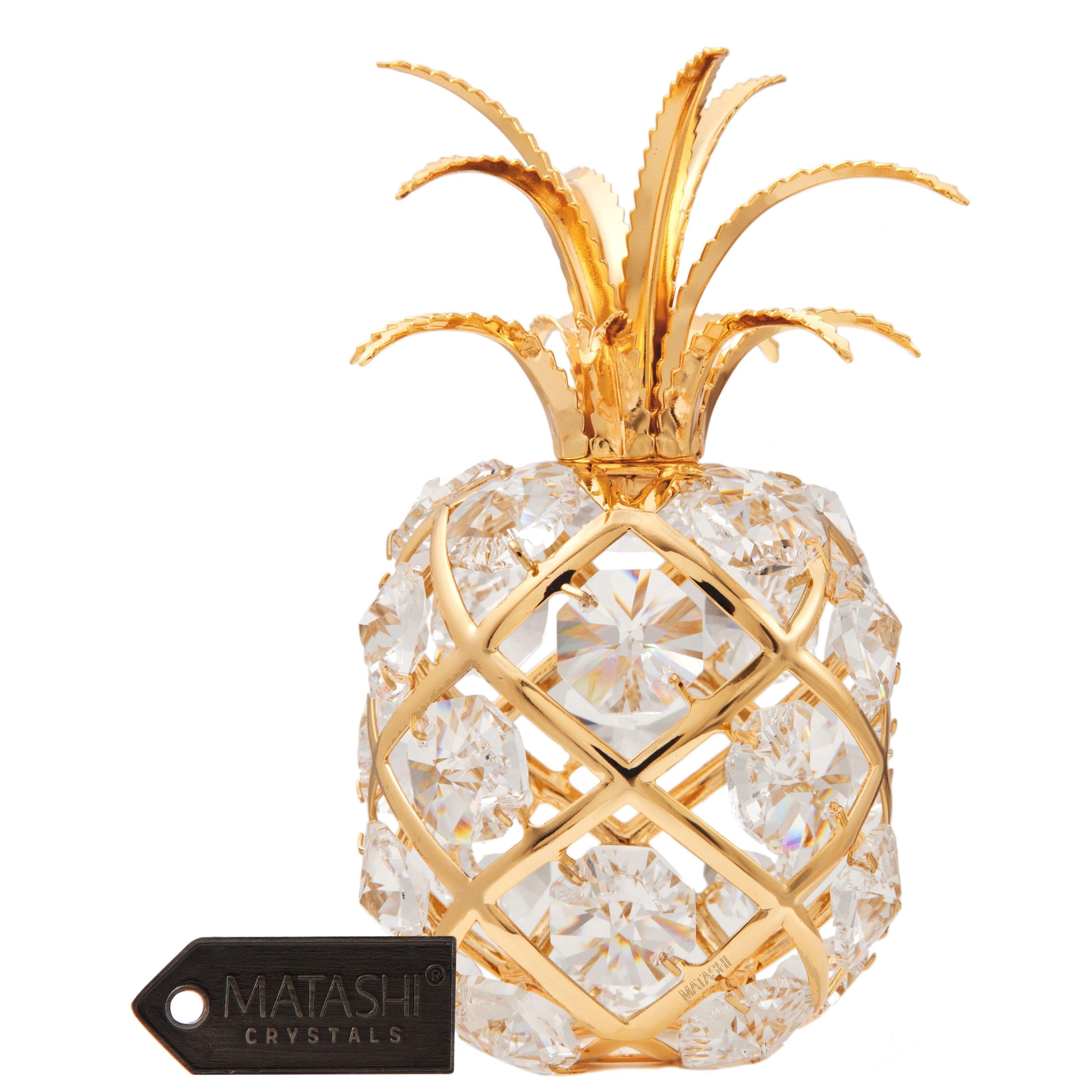 Matashi 24K Gold Plated Beautiful Pineapple with Genuine ...