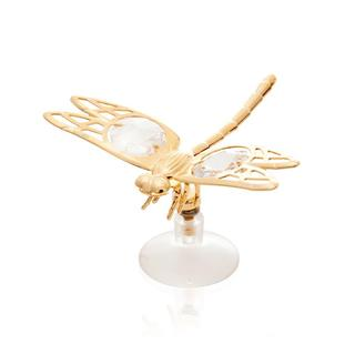 Matashi 24K Gold Plated Dragonfly Table Top with Genuine Matashi Crystals