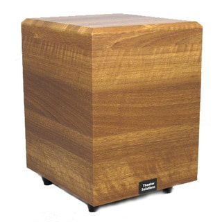 Theater Solutions Mahogany SUB10DM Down Firing Powered Subwoofer