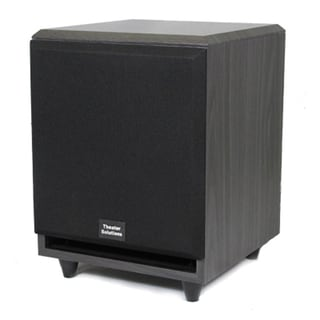 Theater Solutions Black SUB8F Front Firing Powered Subwoofer