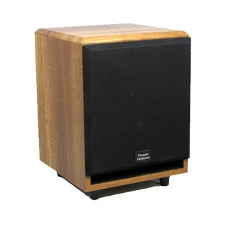 Theater Solutions Mahogany SUB8FM Front Firing Powered Subwoofer