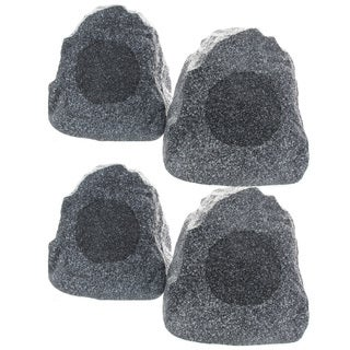 Outdoor Garden Waterproof Granite Rock Patio Speakers 4R4G (Set of 4)