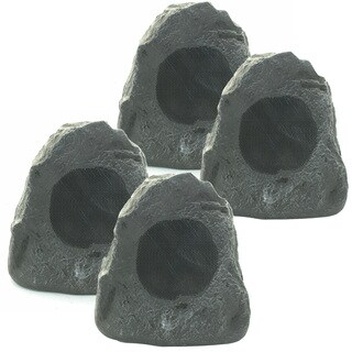 Theater Solutions 4R4L Outdoor Waterproof Lava Rock Patio Speakers 4 Piece Set 1000 Watts New