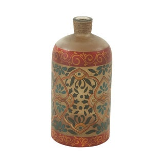 Painted Glass Bottle