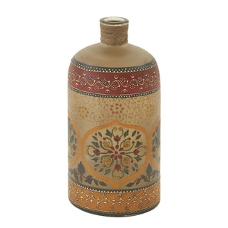 Decorative Glass Painted Bottle