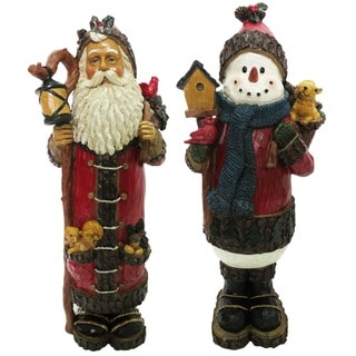 Holiday Snowman Figurine (Set of 2)