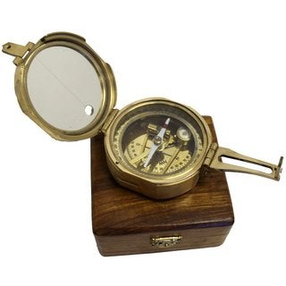 Brunton Compass Solid Brass with Wood Box