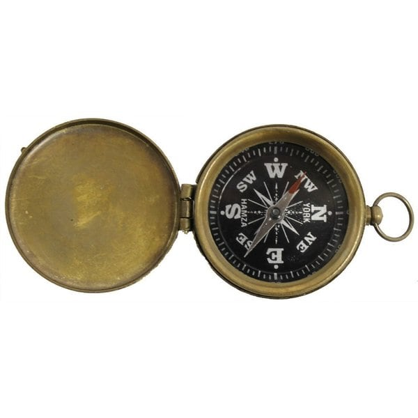 Brass Explorer Pocket Compass With Lid