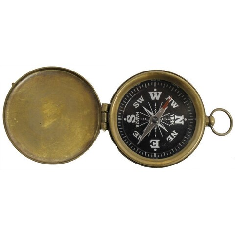 Brass Explorer Pocket Compass With Lid