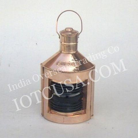 Benzara Ships Port Lamp, Brown (Glass)