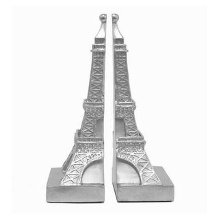 Resin Eiffel Tower Bookend-Silver