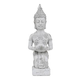 White Buddha Ceramic Candle Holder
