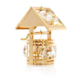 Matashi 24K Gold Plated Wishing Well Ornament with Genuine Matashi Crystals