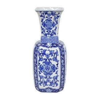 Ceramic Blue and White Vase