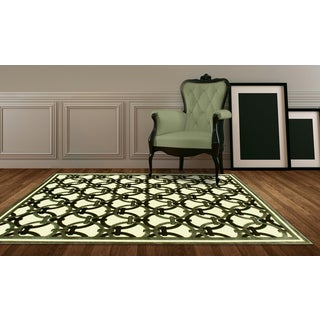 LYKE Home Exotic Chenille Champagne Area Rug (8' x11')