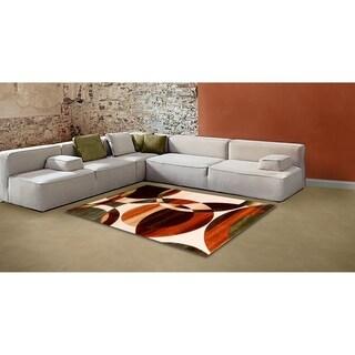 LYKE Home Abstract Multi Area Rug (5'3 x 7'2)