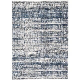 ecarpetgallery Madiba Beige/ Blue Rug (5' x 7')
