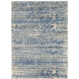 ecarpetgallery Impressions Blue Rug (5' x 7')