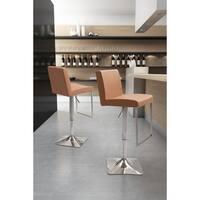 Puma Neutral Leatherette and Chrome Bar Chair