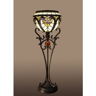 Windyl 1-light Victorian 27-inch Tiffany-style Table Lamp