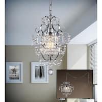 Cynthia 1-light Crystal 11-inch Chrome Swag Lamp