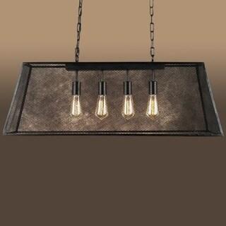 Lemuel 4-light Black 30-inch Edison Island Chandelier with Bulbs & Contemporary Island Ceiling Lights For Less   Overstock.com azcodes.com
