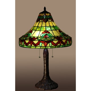 Gretchen 2-light Multi-color 17-inch Tiffany-style Table Lamp
