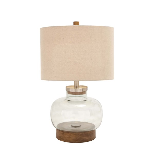 Clear Glass Metal Lamp