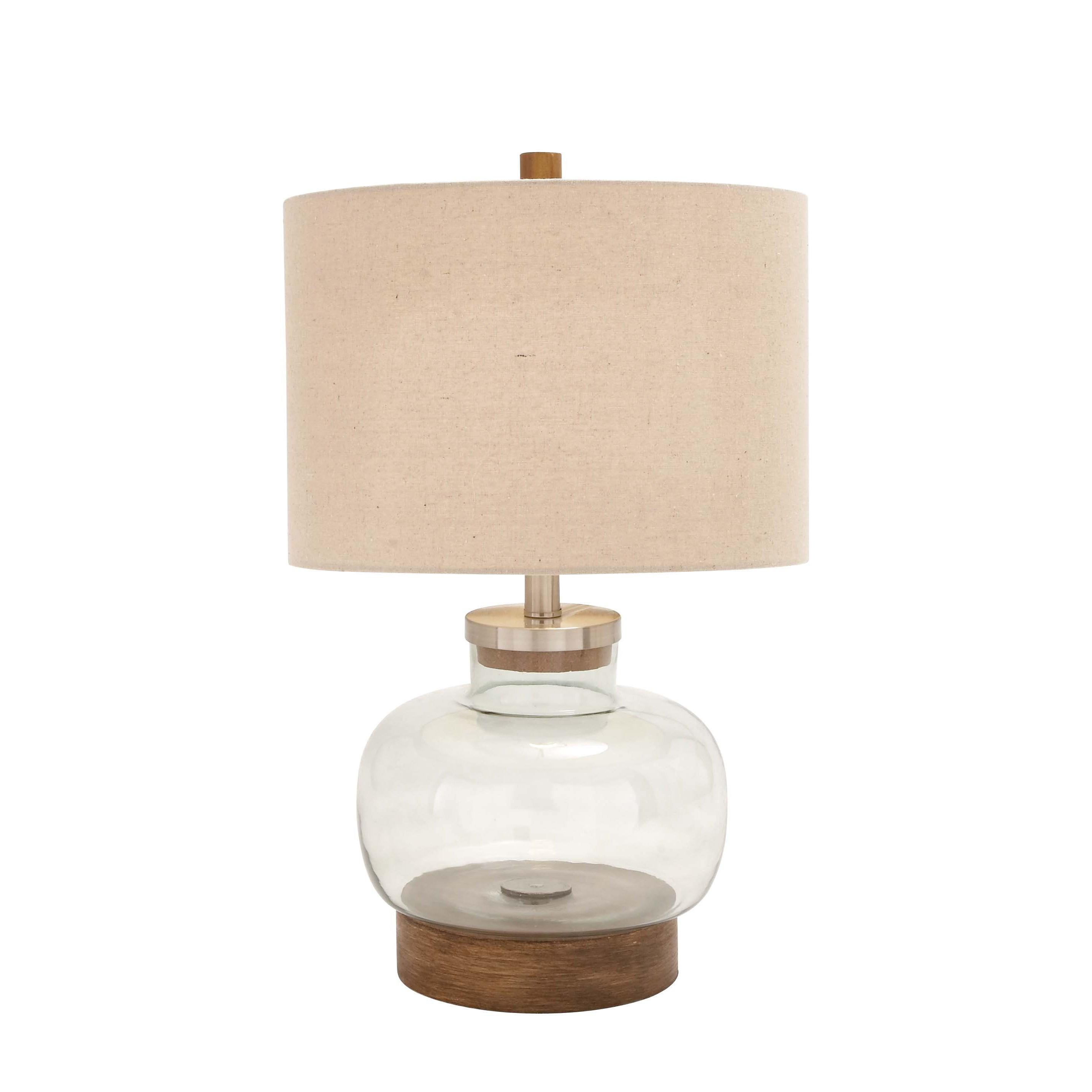 Studio 350 Clear Glass Metal Lamp (Iron)