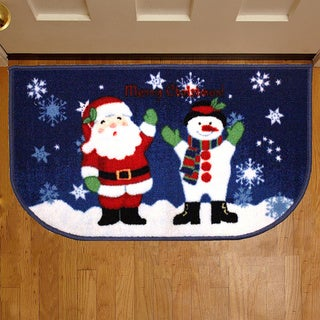 Christmas Themed Slice Welcome Mats