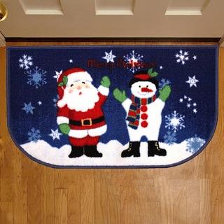 Christmas Themed Slice Welcome Mats
