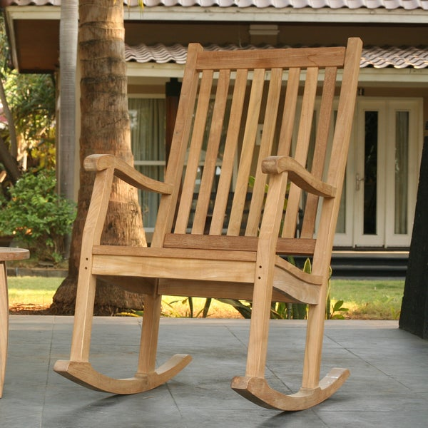 Shop Tortuga Outdoor Jarkarta Teak Rocking Chair Free