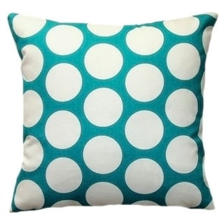 Taylor Marie Blue and White Big Dots Pillow Cover
