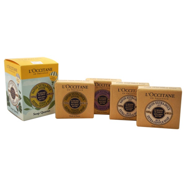 Lx27Occitane Travel Exclusive Soap Quartet With Shea Butter Pack