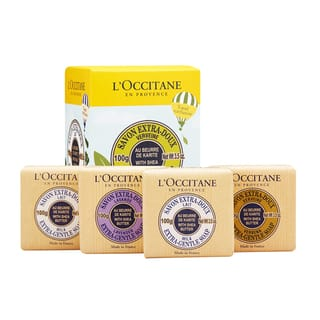 L'Occitane Travel Exclusive Soap Quartet with Shea Butter (Pack of 4)|https://ak1.ostkcdn.com/images/products/10904051/P17936714.jpg?impolicy=medium