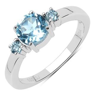 Olivia Leone 1.49 Carat Genuine Blue Topaz .925 Sterling Silver Ring