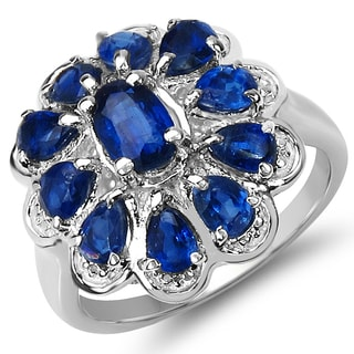 Malaika 2.90 Carat Genuine Kyanite .925 Sterling Silver Ring