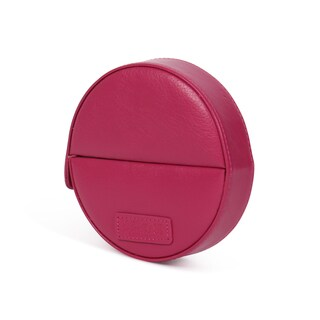 Morelle & Co. Barbara Pink Leather Round Manicure Set