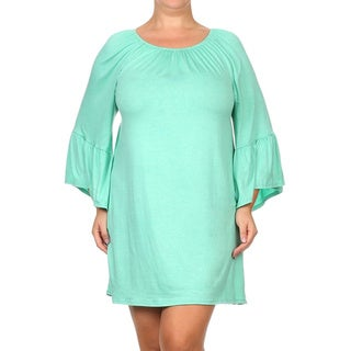 MOA Collection Women's Plus Size Solid Dress